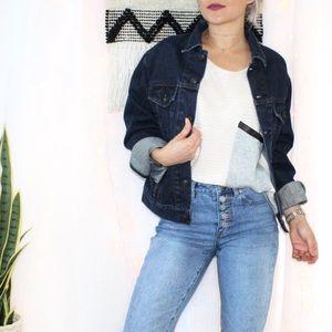 GAP Oversized Button Front Jean Jacket
